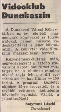Videoklub Dunakeszin