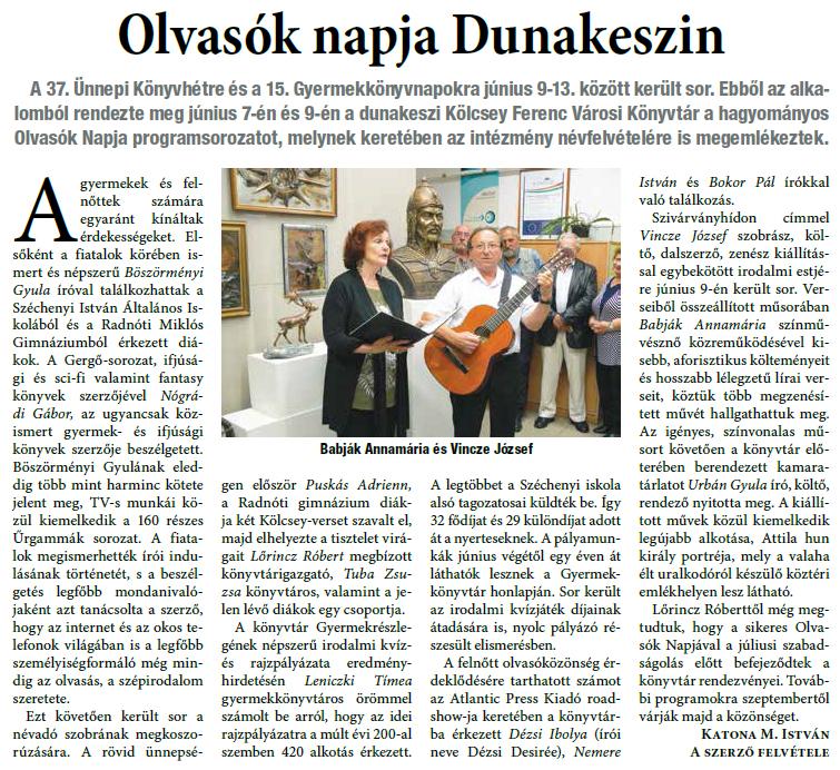 Olvasók napja Dunakeszin