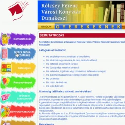 Új könyvtári honlap gyerekeknek