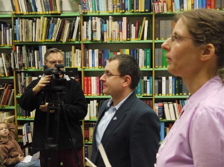 Az Olvasó Város díjátadója a városi könyvtárban (2015)